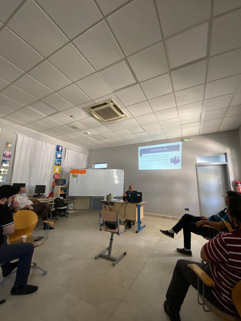ورشة تدريبية  للهيئة التدريسية حول Microsoft Teams