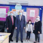 زيارة اصحاب السعادة السفراء والقائمين بالاعمال للمدرسة، لمتابعة ابنائهم